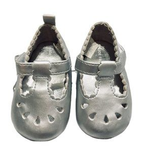Silver Mary Jane Dress Shoes